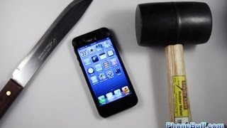 Apple iPhone 5 Hammer Drop & Knife Scratch Test(Watch the 2016 edition with the iPhone 6S Plus: https://youtu.be/P_GIbfmfy00 iPhone 5 Cases: http://amzn.to/1y9BtZl Watch the other destruction videos: The ..., 2012-09-23T01:11:50.000Z)