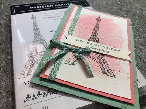 Episode 218 Stampin Up! Parisian Beauty Stamp Coming In Our New Mini Catalogue With DonnaG!