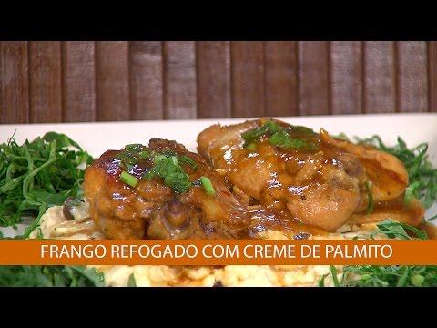 FRANGO REFOGADO COM CREME DE PALMITO