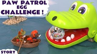 Paw Patrol Surprise Egg Challenge with Thomas and Friends Skittles and Kinder Eggs TT4U