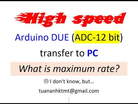 [tuananhktmt] Maximum High Speed Transfer Arduino to PC