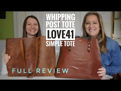The Best Totes Compared | FULL REVIEW (Whipping Post Tote vs. Love41 Simple Tote)