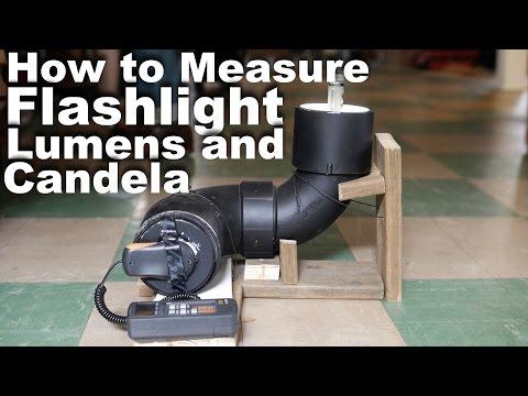 How to measure Flashlight Lumens and Candela using ANSI/NEMA FL1 standards.