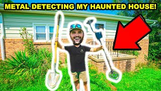 METAL DETECTING at the 131 year old HAUNTED HOUSE on My DREAM HOUSE Property!!!