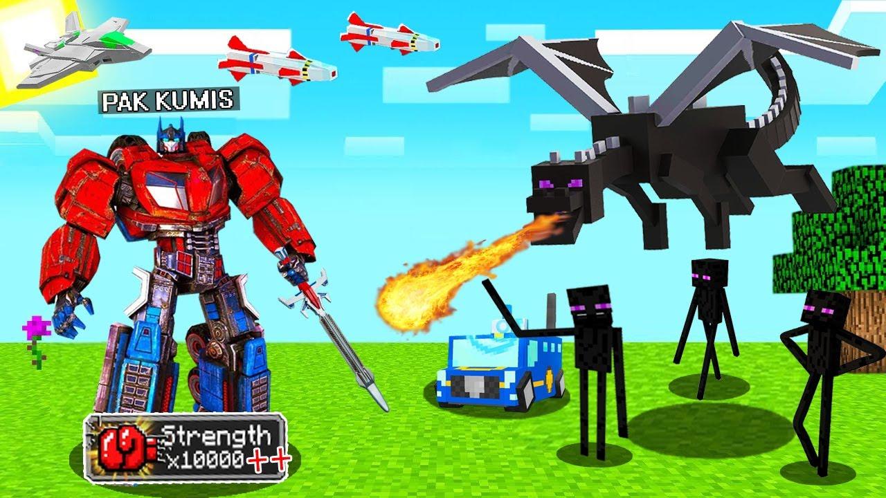 Gua Tamatin Minecraft Survival Tapi Dengan Berubah Jadi Robot Transformers