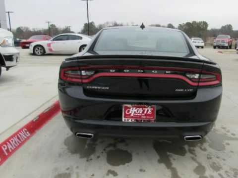 2017 DODGE CHARGER SXT New Black Car For Sale Ada OK - YouTube