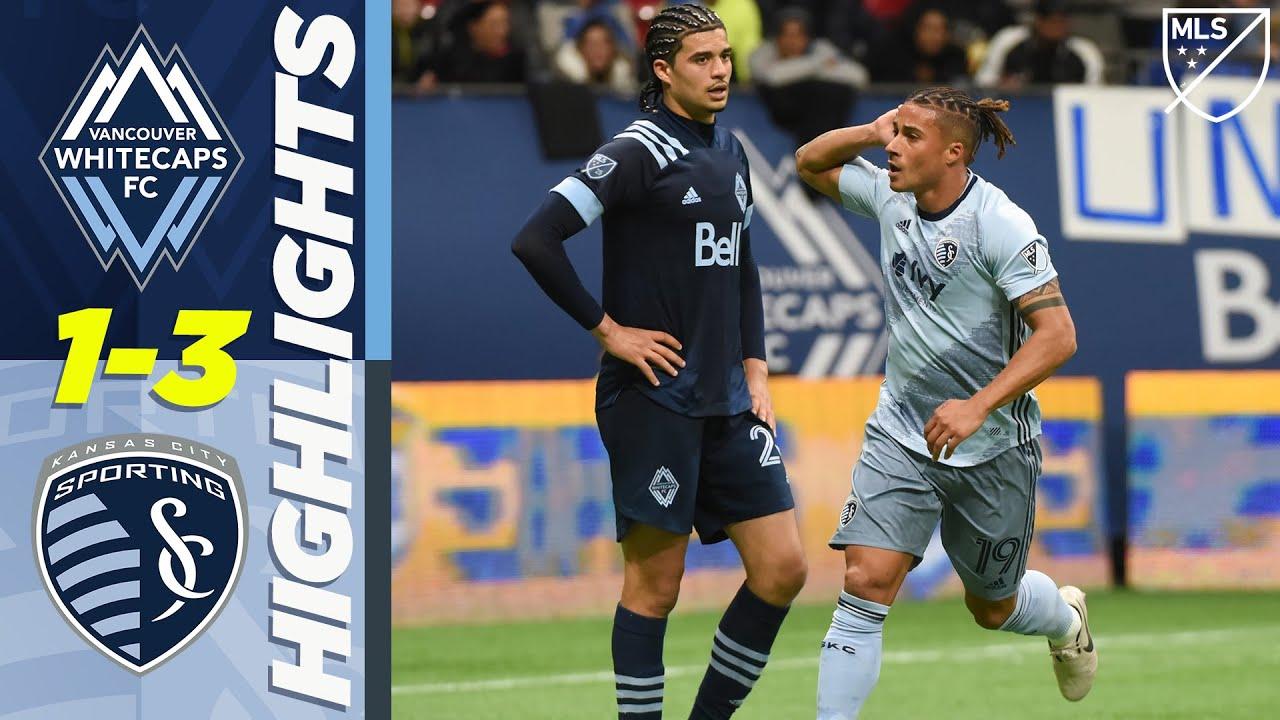 Vancouver Whitecaps 1-3 Sporting Kansas City   Alan Pulido Header on His Debut!   MLS HIGHLIGHTS