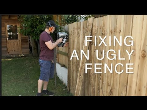 COVERING UP AN UGLY FENCE WITH FEATHER EDGE