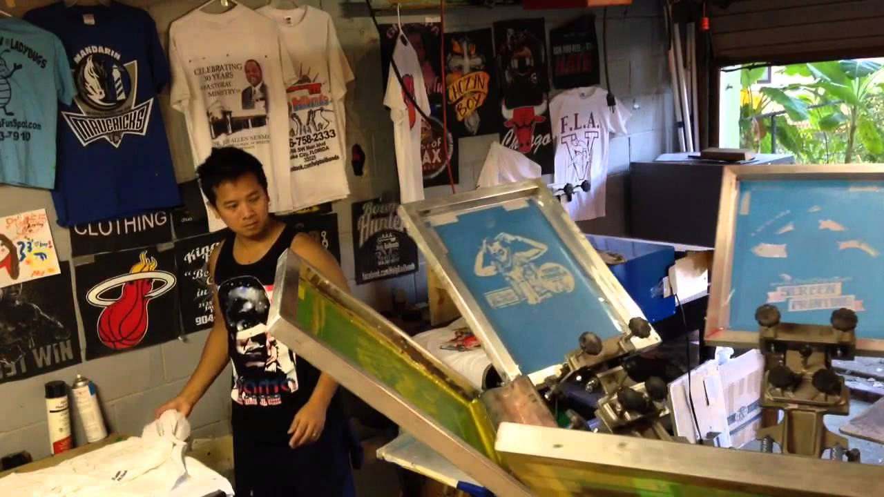 Le t shop making of obsek 4 color process cmyk t shirt youtube - Cmyk Printing