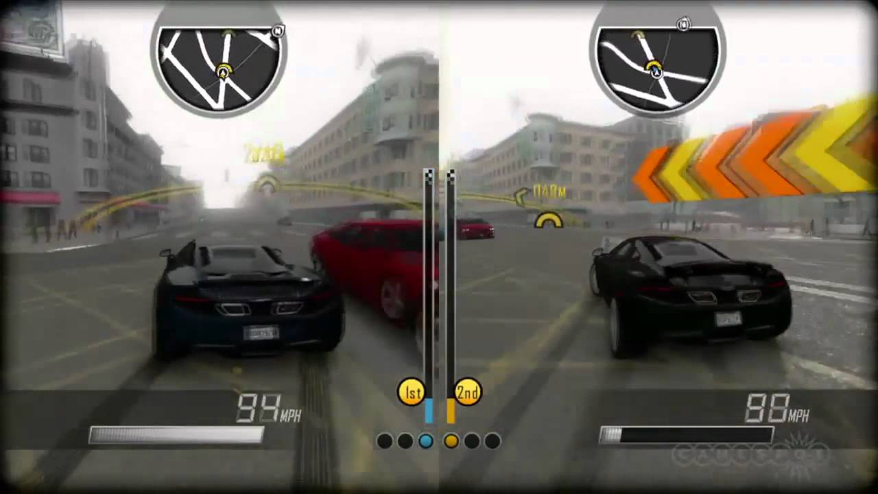driver san francisco split screen gameplay pc ps3. Black Bedroom Furniture Sets. Home Design Ideas