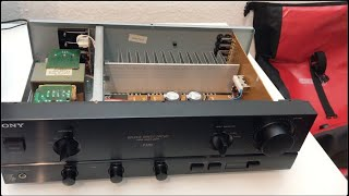 Sony TA-F170 - A look Inside , What's Inside + Audio Test , Sound demo