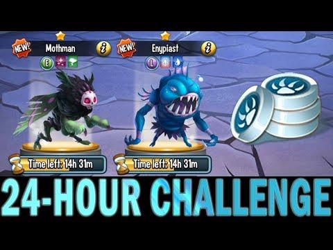 Monster Legends | 24-Hour Challenge | Enypiast and Mothman | Team Wars Battle | Titan Invasion?
