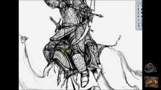 Speed Drawing- Caracal Camel Archer (The Battle for Arcadia)