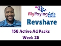 My Paying Ads Revshare 2017 | 158 Active Ad Packs | Week 26