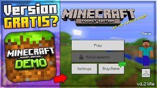 SALDRA una NUEVA VERSION GRATIS de Minecraft PE? - Minecraft PE LITE/DEMO