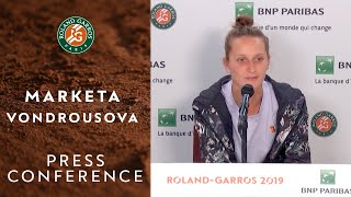 Marketa Vondrousova - Press Conference after Semi-Finals | Roland-Garros 2019