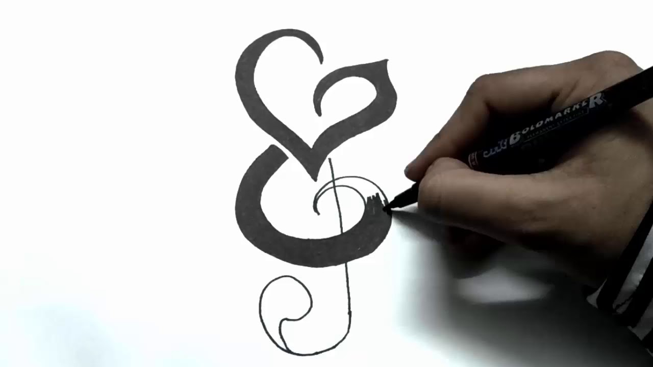 e51f93bb9 How to Incorporate Initials into Music Notes - Tattoo Design - YouTube
