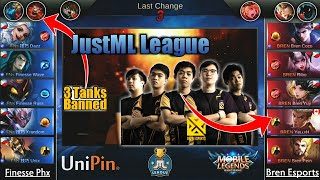 Bren VS Finesse Phx   Chou lang sapat na!?? JustML League Round Robin