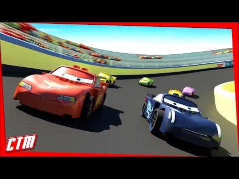 Cars 3 Animated MOVIE Disney Pixar Lego Jackson Storm RACE Lightning McQueen Mater Frozen Princesses