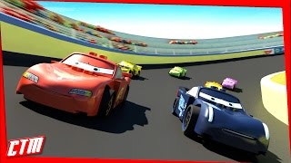 Cars 3 Animated MOVIE Disney Pixar Lego Jackson Storm RACE Lightning McQueen Mater Frozen Princesses