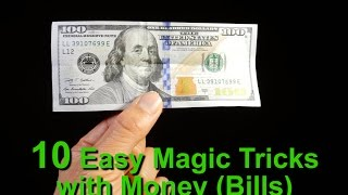Learn 10 Magic Tricks With Money (Bills)