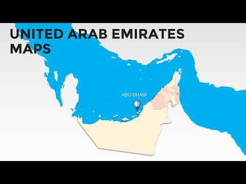 UAE Map of Emirates : United Arab Emirates PowerPoint maps