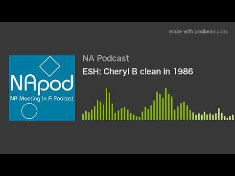 ESH: Cheryl B clean in 1986