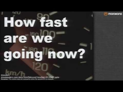 Steve Souders on Web Performance: How Fast Are We Going Now?