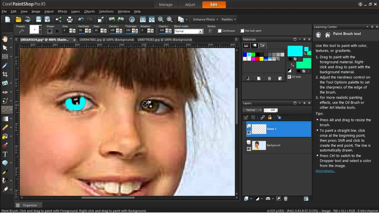 How to change background color in corel paintshop pro