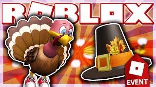HOW TO GET THE PILGRIM HAT & TURKEY FRIEND!! (ROBLOX BLOXGIVING EVENT - High School)