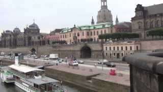Dresden: A short walk along the River Elbe from Marienbrücke to Theaterplatz - 8th August, 2013