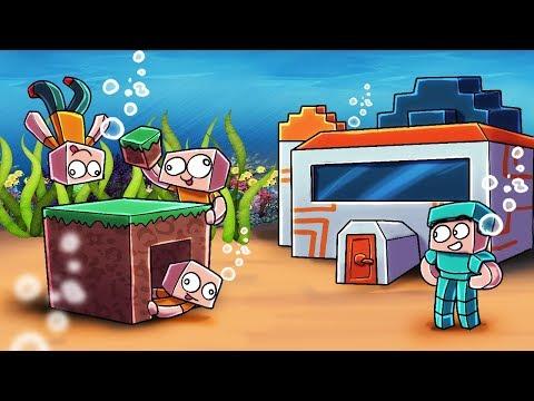 Minecraft | Noobs vs PRO - UNDERWATER BASE CHALLENGE! (1 VS 3)