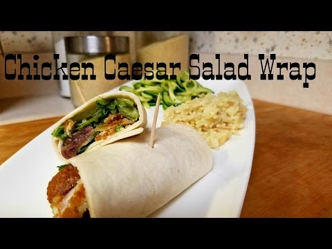 Chicken Caesar Salad Wrap|Quick And Affordable!