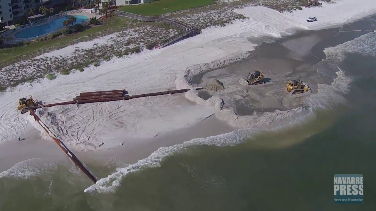 Navarre Beach Renourishment April 29 2016