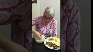Eating Pakhala