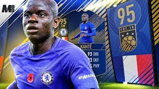 FIFA 18 TOTY KANTE REVIEW | 95 TOTY KANTE PLAYER REVIEW | FIFA 18 ULTIMATE TEAM
