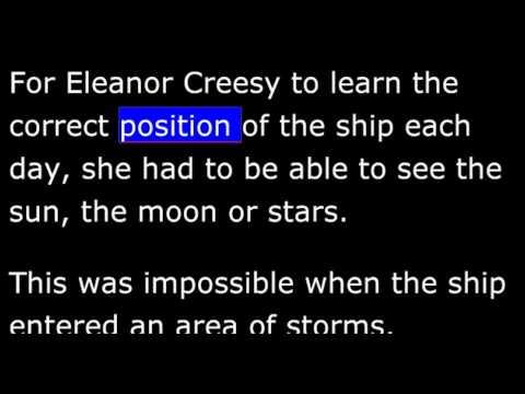 Biography - CE - Eleanor Creesy - Fastest Ship in the World