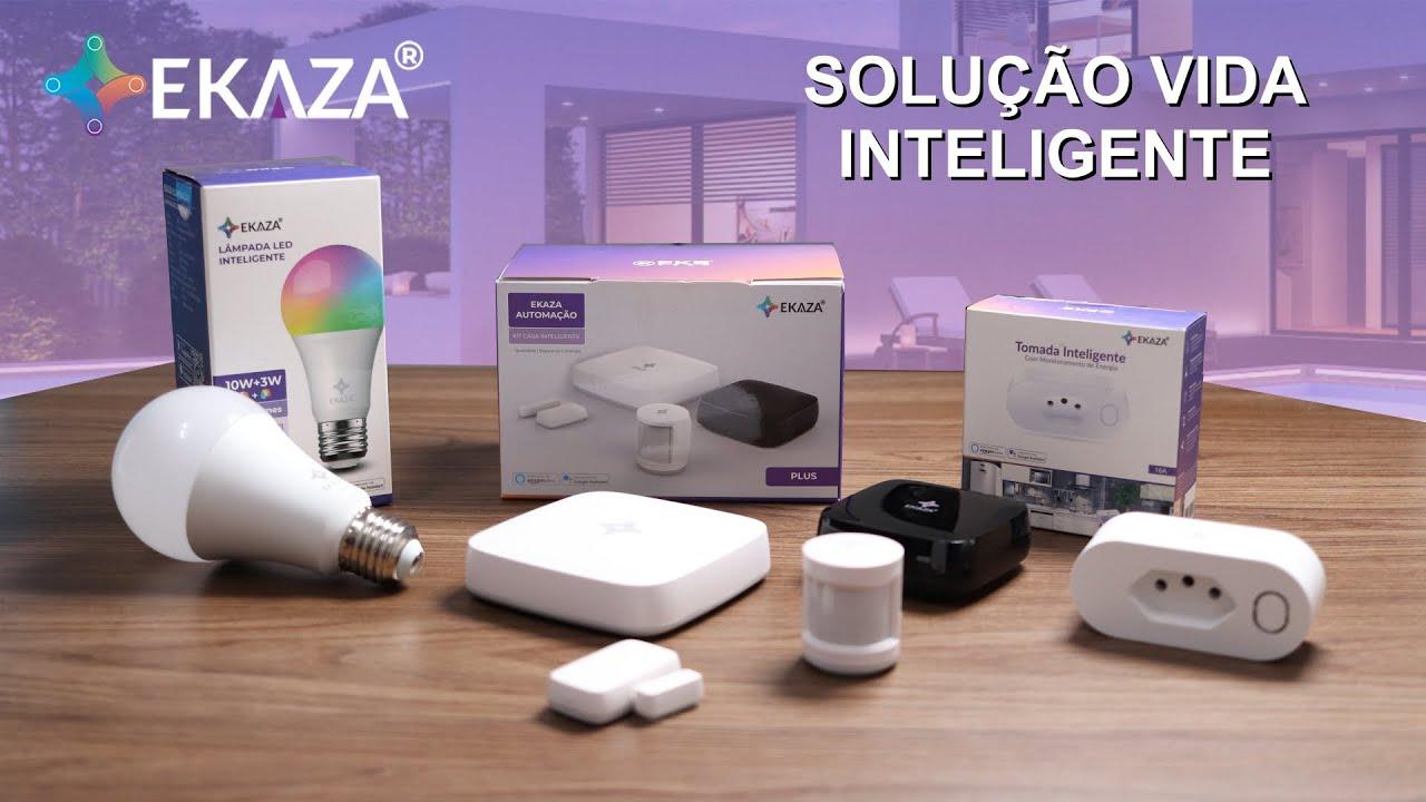 Automatize sua casa com EKAZA - Hub e Sensores Zigbee, Controlador Infravermelho, Plugue e Lâmpada
