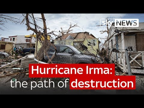 Hurricane Irma - the path of destruction