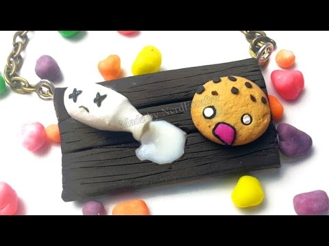SCARED COOKIE AND SPILLED MILK Polymer Clay Tutorial