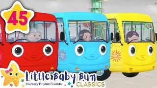 Learn Colors - Color Bus! | +More Kids Songs | Nursery Rhymes | Little Baby Bum