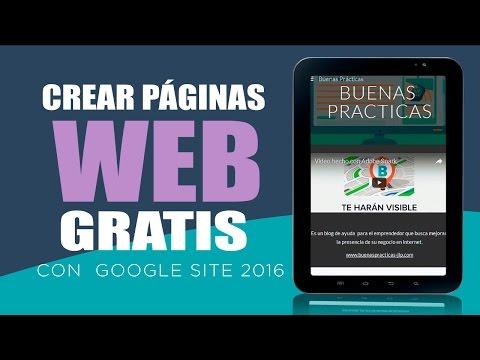 Crear una pagina web gratis con el nuevo Google Site Tutorial Completo