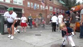 Christian Haupt Baseball Boy Prodigy at Fenway Park - 2 Year Old in Adam Sandler movie