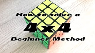 How to solve a 4x4 cube - Basic / Beginner Reduction Method
