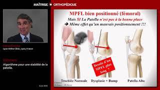 Dr Dejour présente l'algorithme de la stabilisation de la rotule