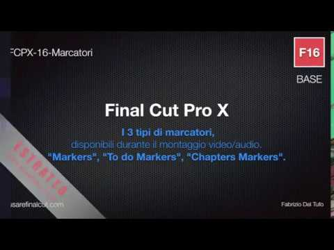 FCPX 10.2 - L16EX - MARKERS. TO DO MARKERS. CHAPTERS MARKERS.