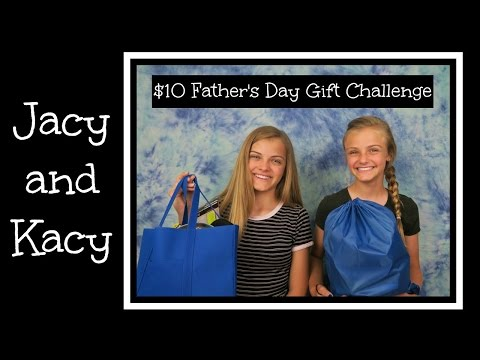 10 Dollar Father's Day Gift Challenge ~ Jacy and Kacy
