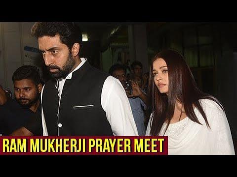 Aishwarya Rai And Abhishek Bachchan With Family At Ram Mukherji Prayer Meet