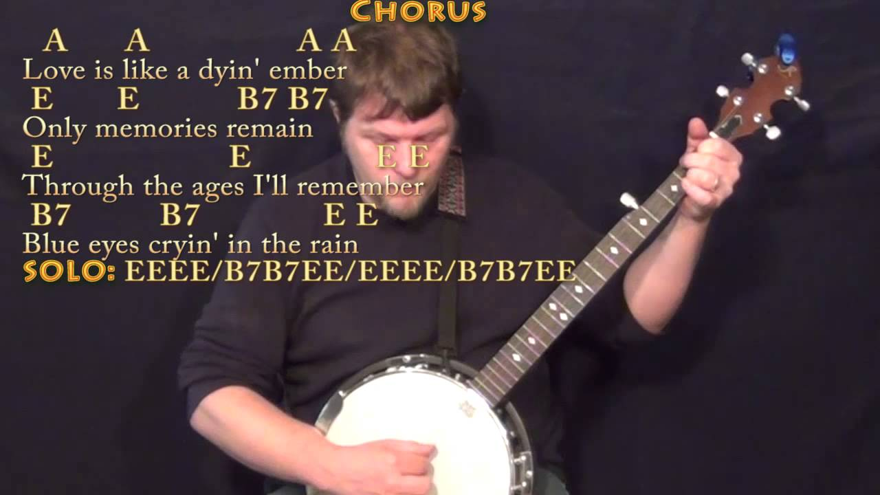 Blue Eyes Crying In The Rain Willie Nelson Banjo Cover Lesson With