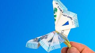 Geld falten SCHMETTERLING, Anleitung für ein Geldgeschenk 🦋